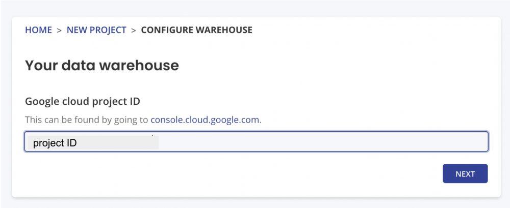 google cloud project id