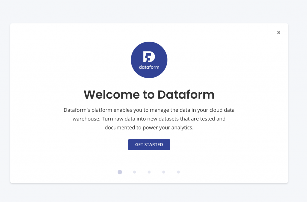 welcome to dataform